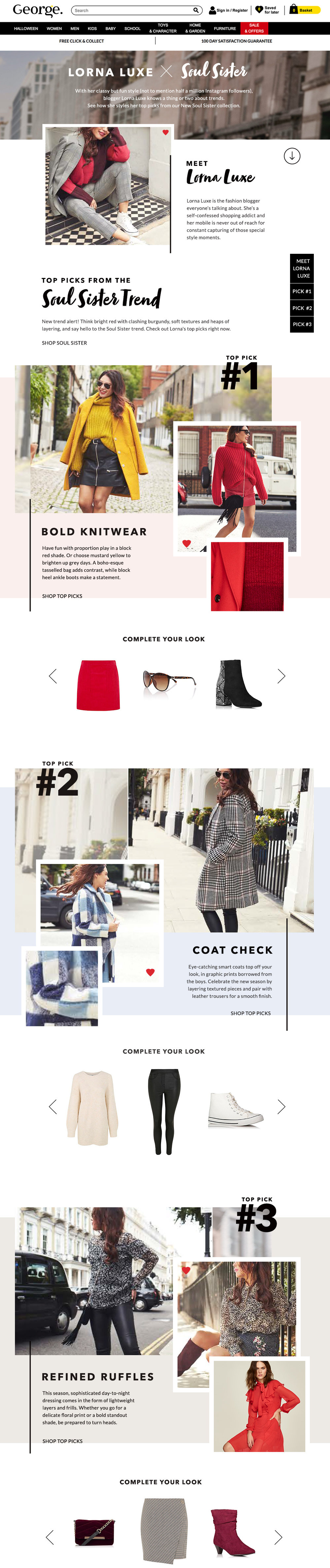 George at ASDA x Lorna Luxe email