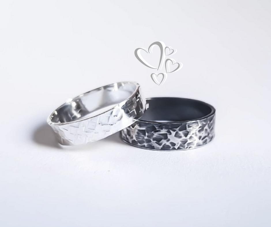 Textured Silver Rings - Kirsten Manzi .jpg