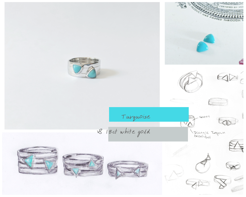 18ct White Gold Turquoise Ring