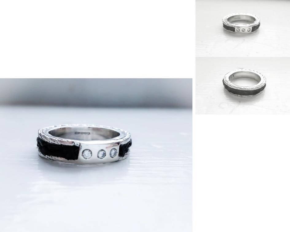 Kirsten Manzi Jewellery Silver Horsehair Ring