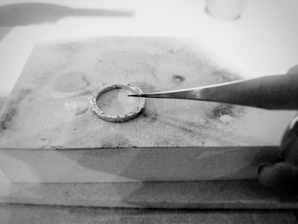 preparing to solder a silver ring.jpg