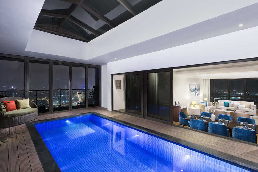 Luxury pool in IPH Penthouse, Hanoi | Property photographer in Vietnam | Francis Roux Portofolio
