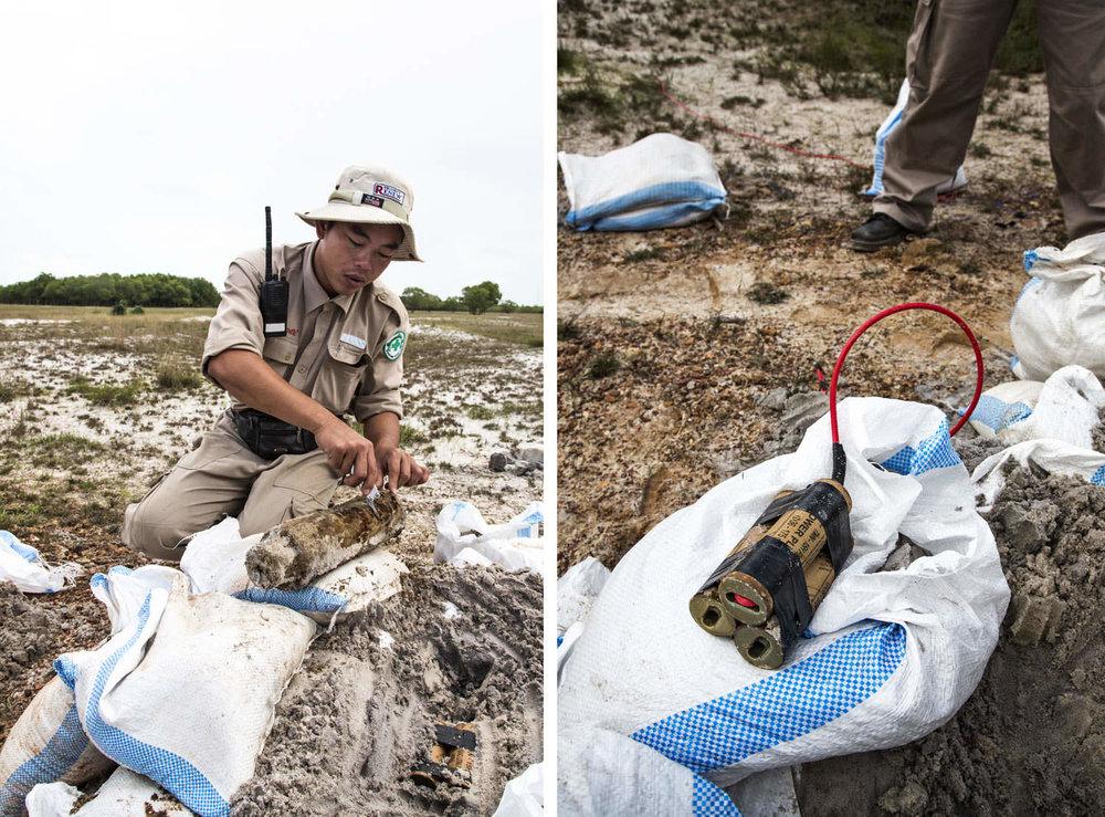 Bomb disposal in central Vietnam | NGO Photographer in Southeast Asia | Francis Roux Portfolio