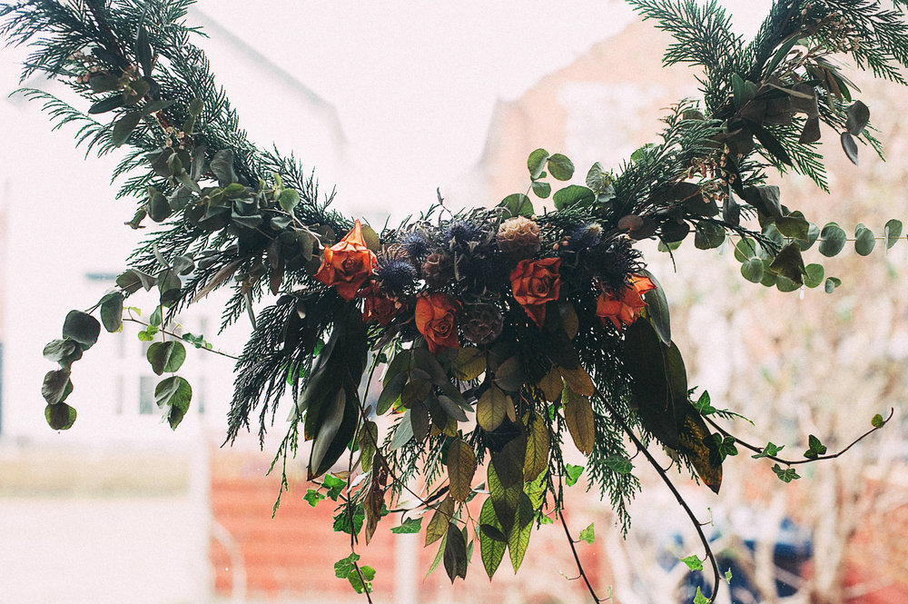 My Hanging Garland from last year captured by  acupfullofdreams