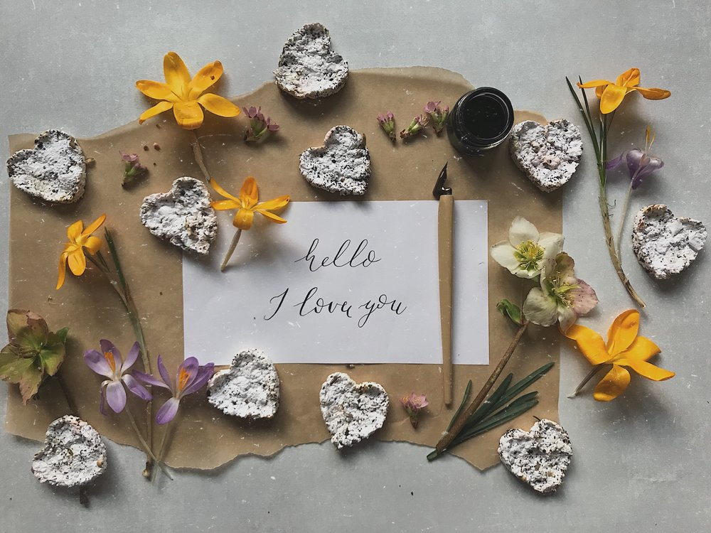 DIY Paper Wildflower Seed hearts tutorials