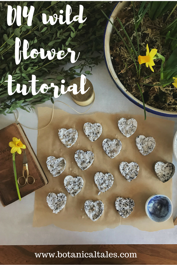 DIY wildflower seed heart bomb Tutorial