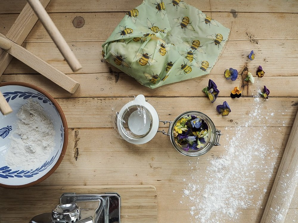 bees wax wraps keeping fresh pasta fresh