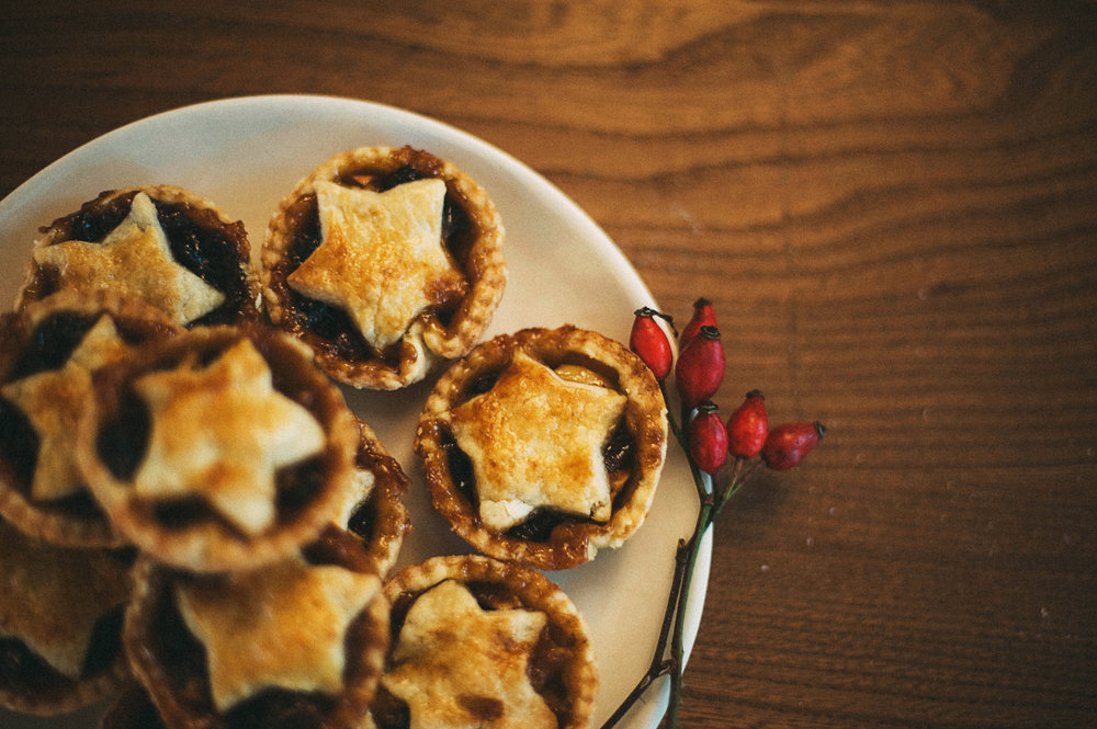 Mince Pies at Christmas wreath workshops near me