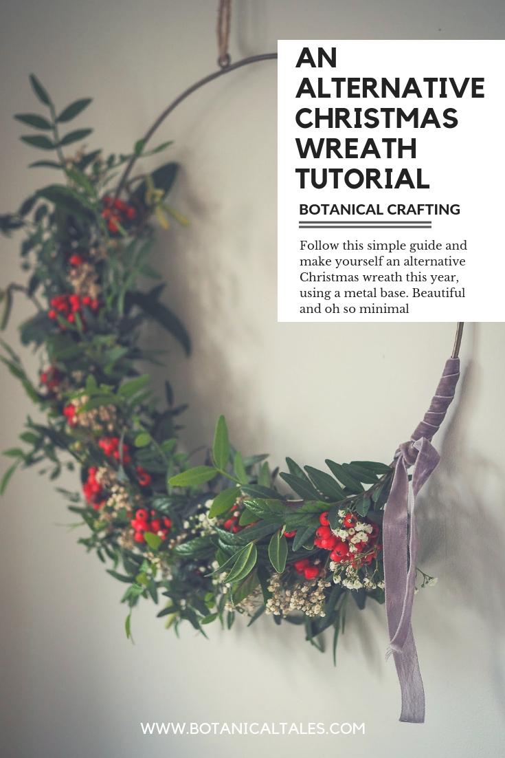 An alternative christmas wreath DIY tutorial
