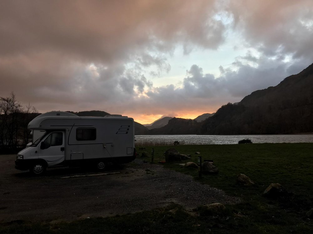 Wild camping in North Wales