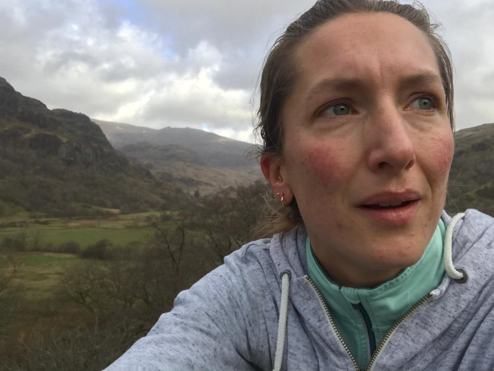 Running in the welsh hills