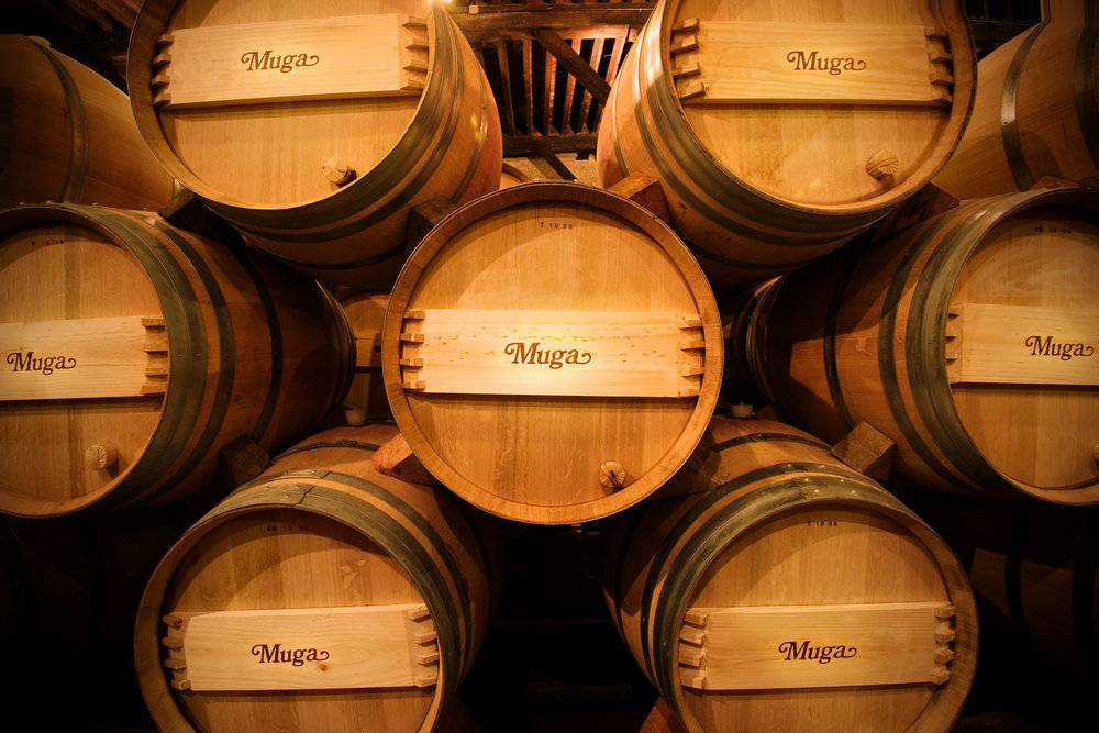 Muga Wine in its bespoke French oak casks.