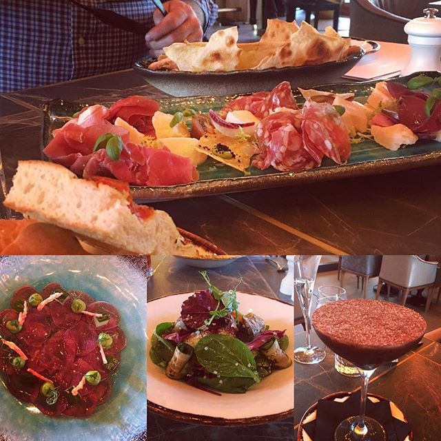 Incredible food @jazzgirlondon all freshly prepared with the highest quality ingredients sourced from all around the Mediterranean #tunacarpaccio #charcuterie #grilledvegetables #tiramisu . . . . . . #delicious #foodporn #foodstagram #jazz #jazzbar