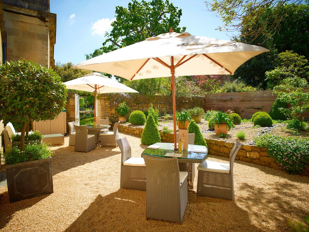 Spa Garden, unwind in the serene Taittinger Spa Garden and order a light meal or an indulgent Afternoon Tea.