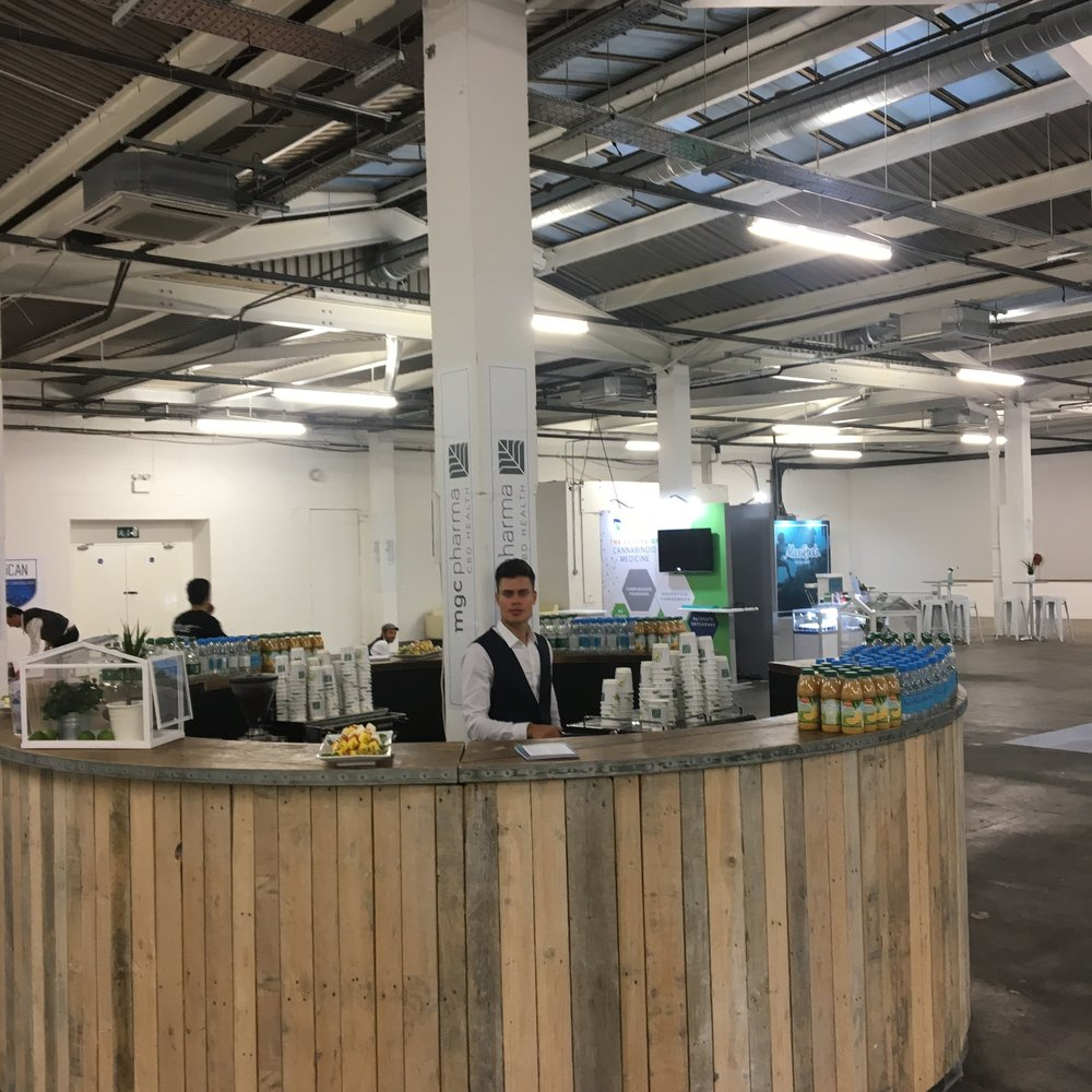 Coffee job for the cannabis exhibition 2018 Brick Lane