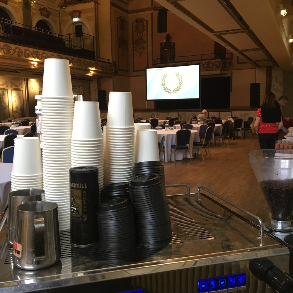 Corporate coffee service in the City