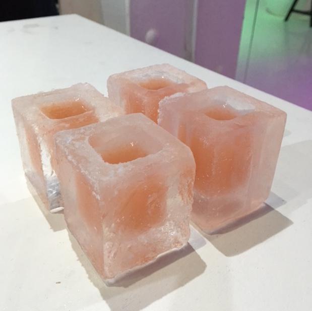 Frozen peach shots
