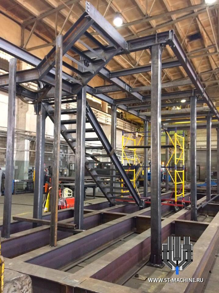 конструкция из металла балкон для объекта ВДНХ