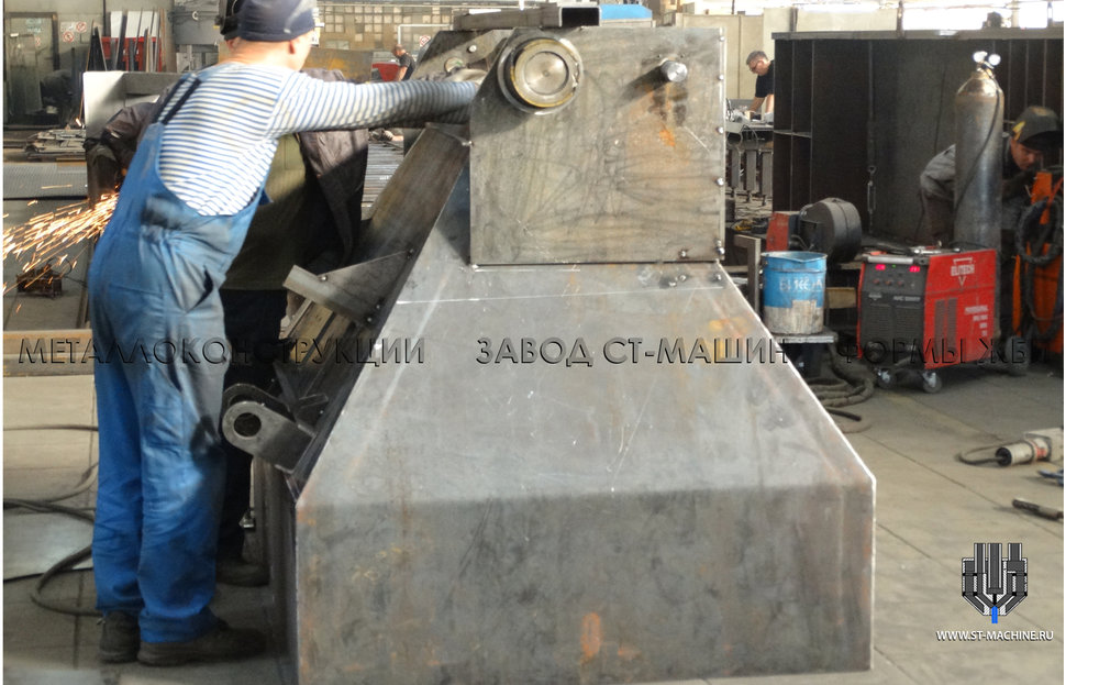 Изготовление нового скипа согласно чертежам Заказчика на производстве СТ-Машин в Балашихе.