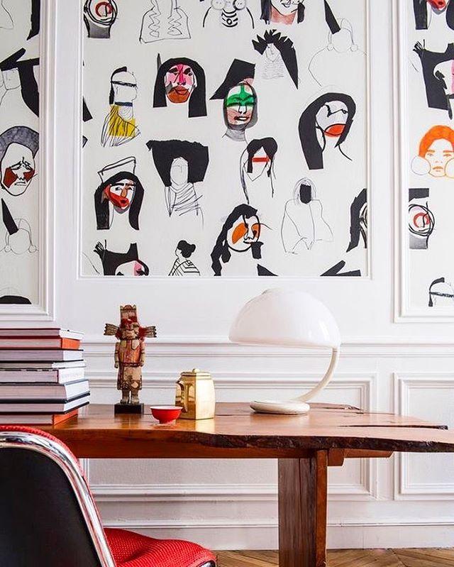 Monday inspiration - this Pierre Frey wallpaper. @lamaisonpierrefrey #pierrefrey