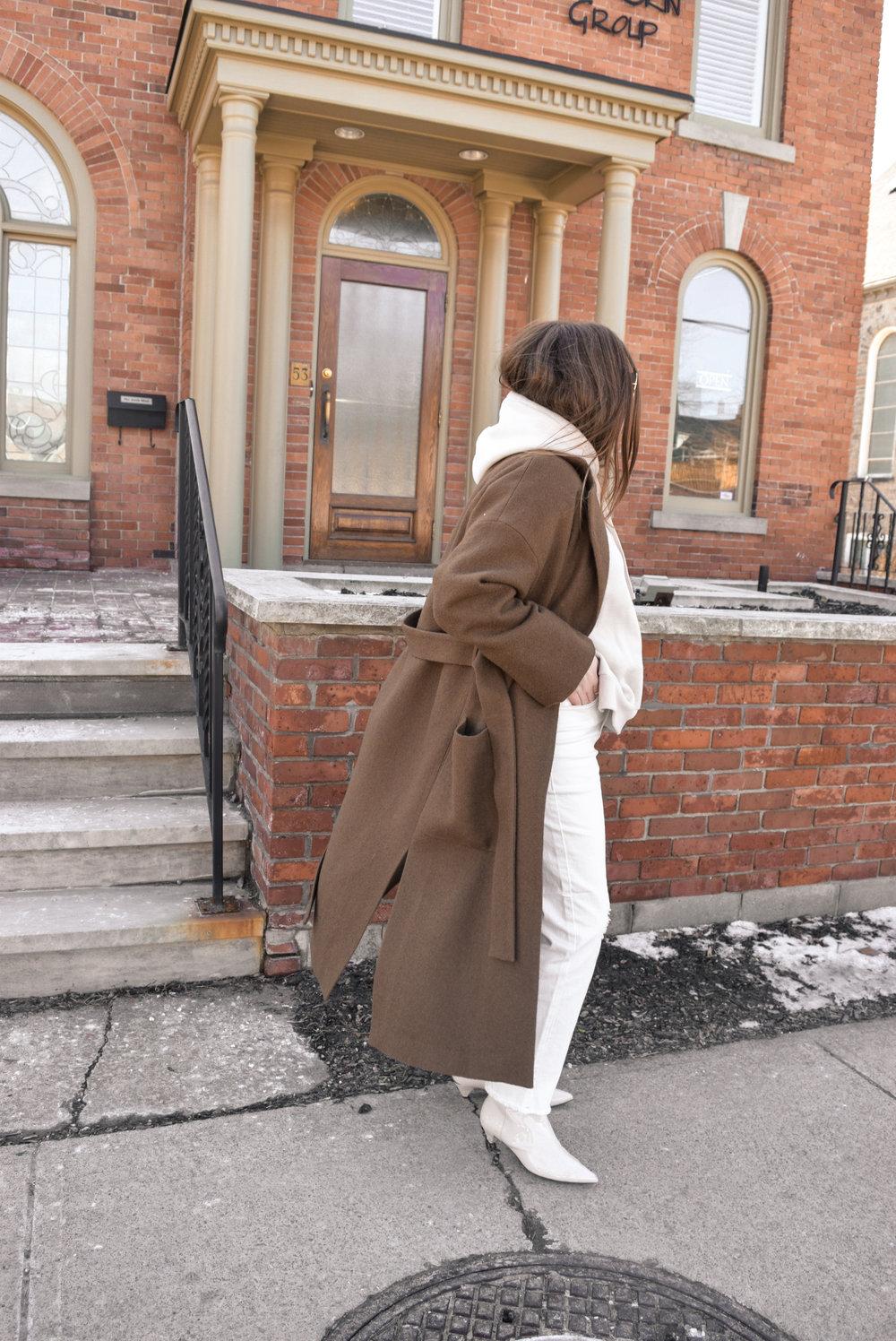 brown winter coat