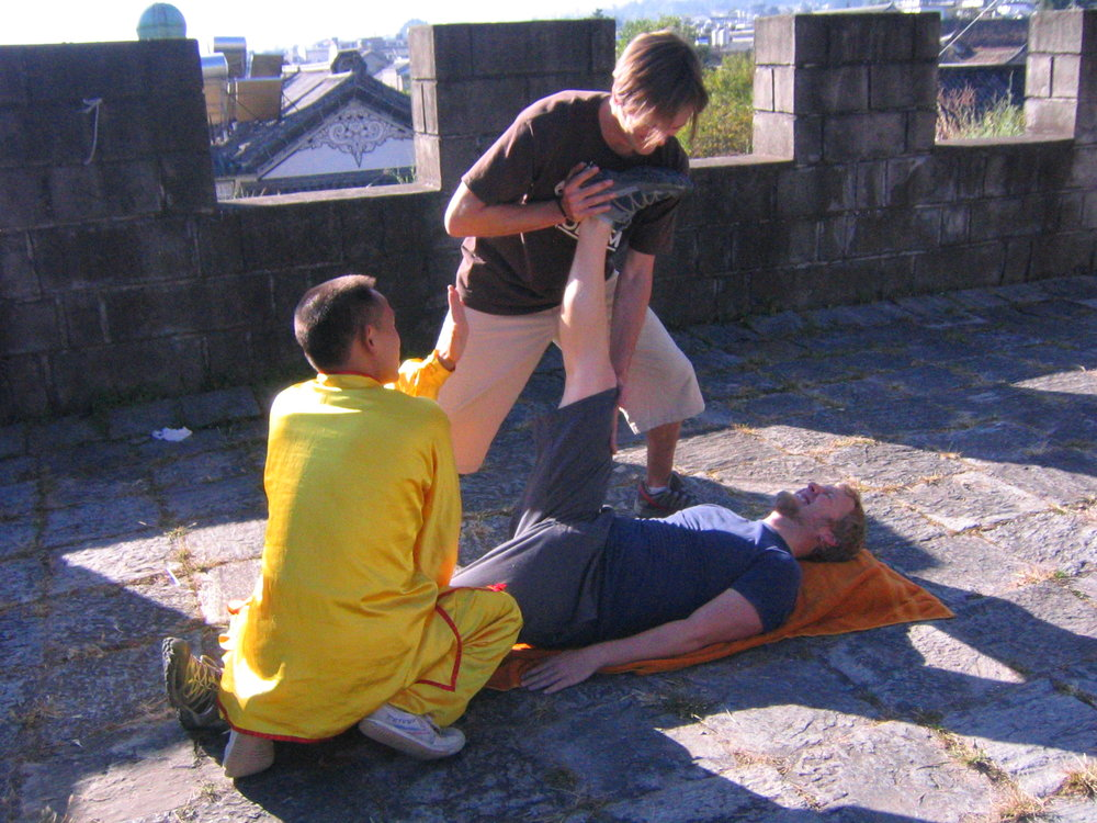 me studying kung fu in Dali, China 2005