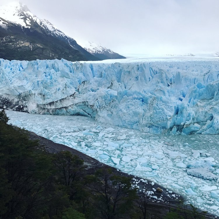 The glacier is 5km wide and 70m high! It is hard to grasp the scale even when standing next to it...