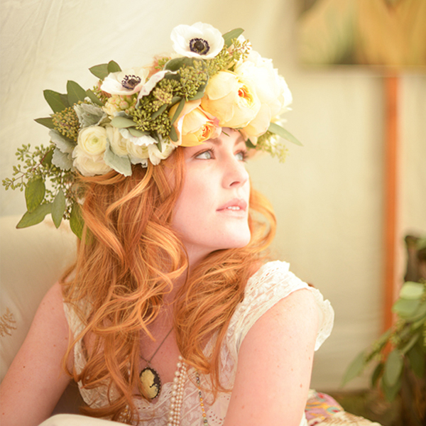BOHO-INSPIRED HEAD WREATH WORKSHOP   $75  Saturday 4:00 - 5:00PM