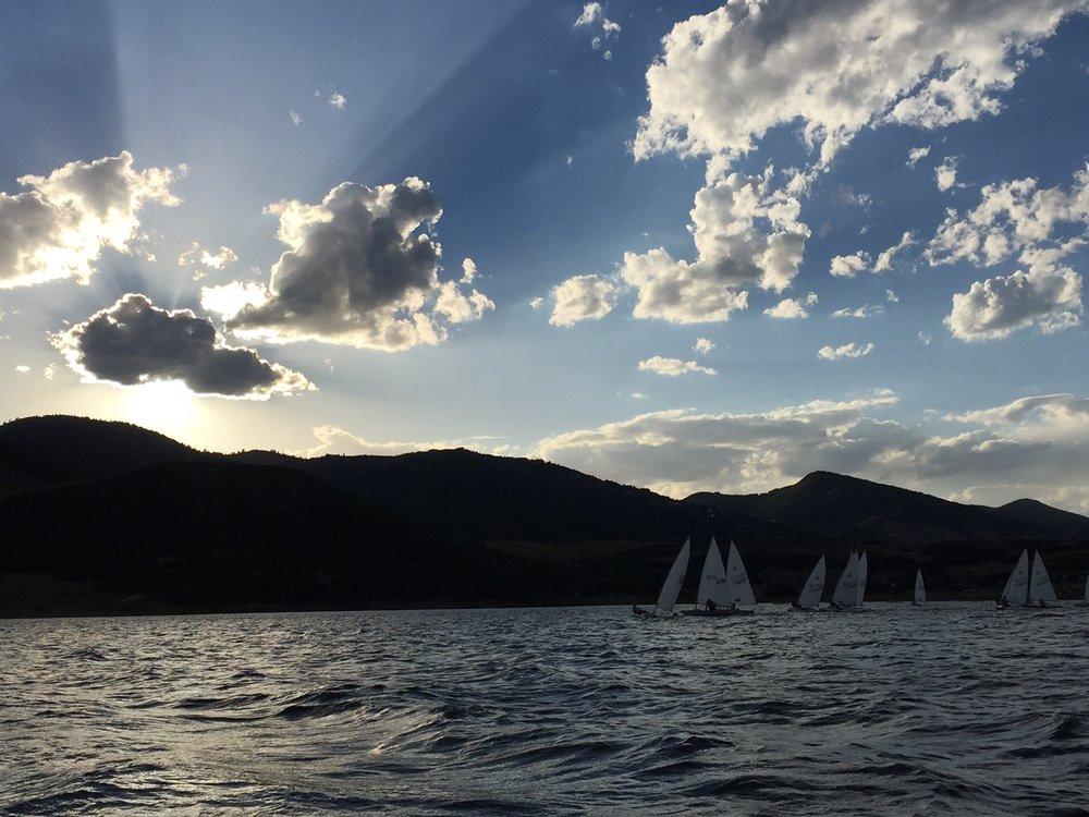 Laser Racing Sunset.JPG