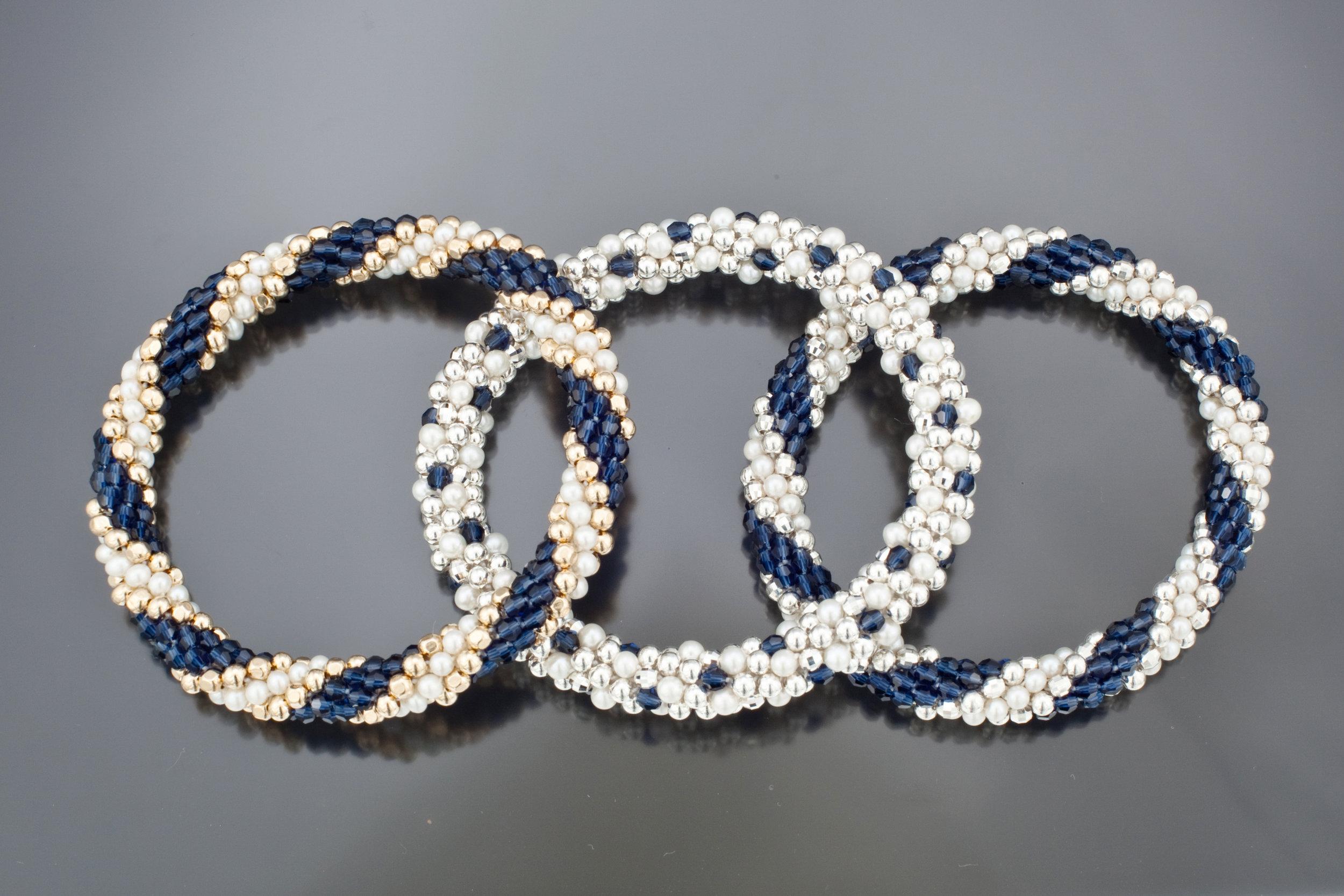 Blue and White Trio