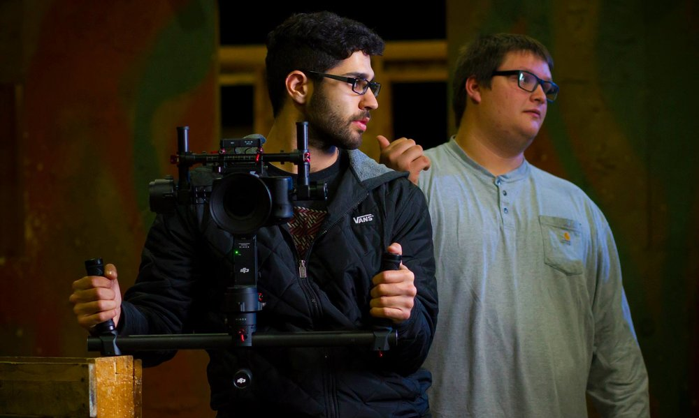 Austin Newell Filming Short Film in Stockton Ca
