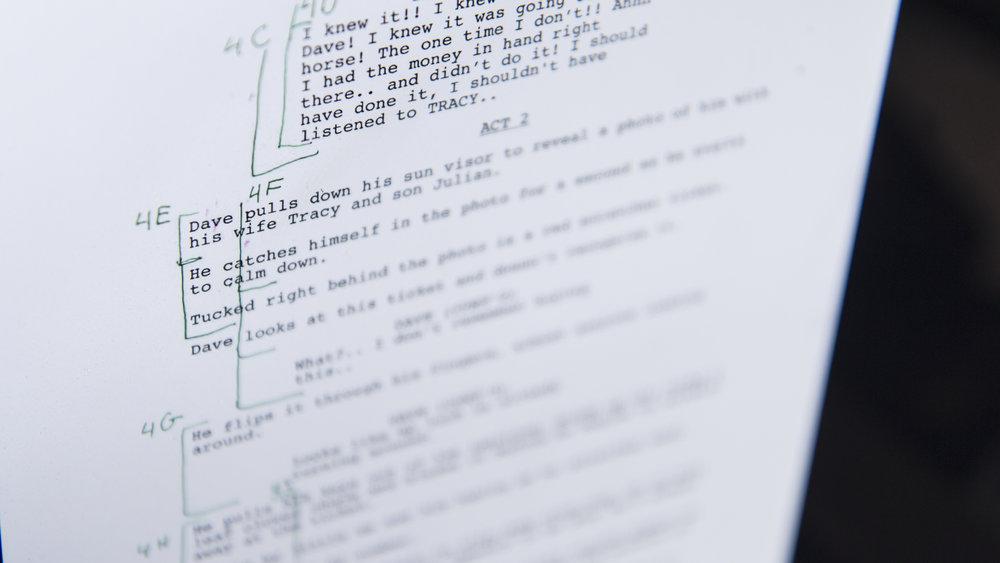 Austin Newell Behind the scenes of short film Script