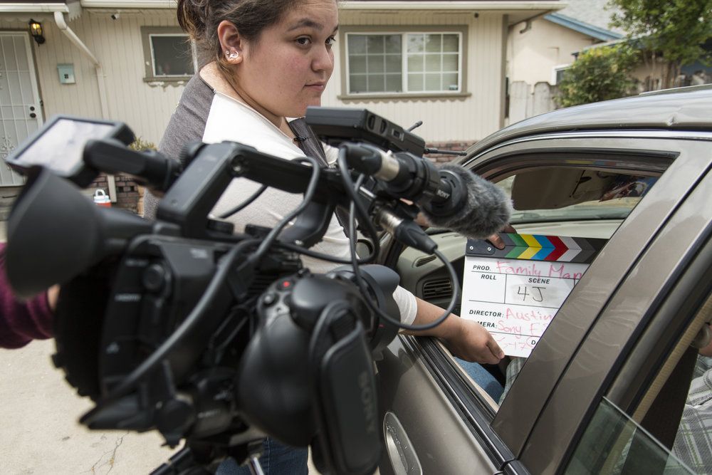 Austin using fs5 with clapboard and car_3.JPG