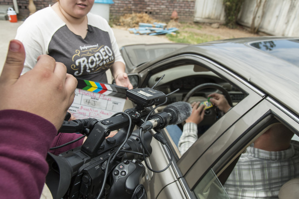 Austin using fs5 with clapboard and car.JPG