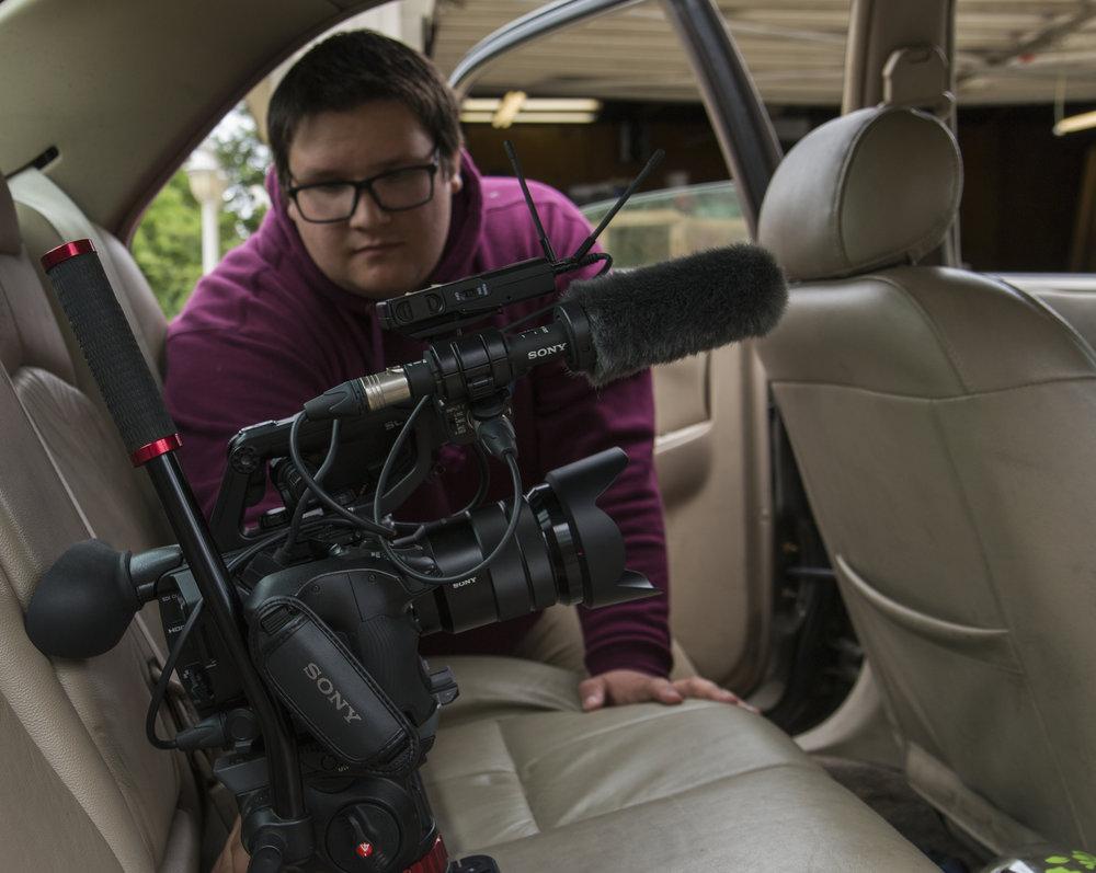 Austin using Slider in car.JPG