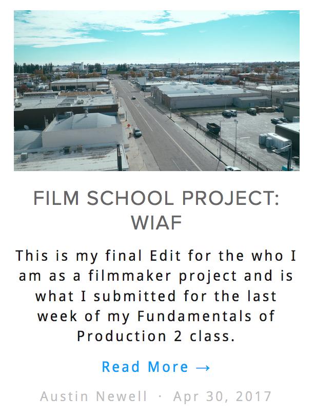 who I am as a filmmaker blog post