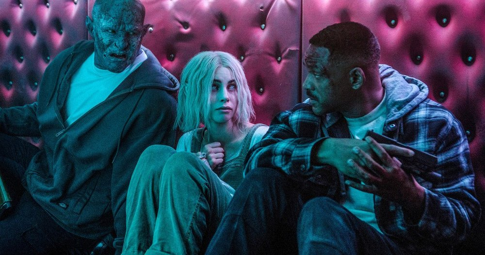 noomi rapace in scene in Bright from Netflix still