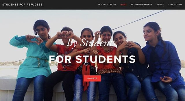 Check out our website studentsforrefugees.org for weekly photo updates from the Sal School in Jordan!