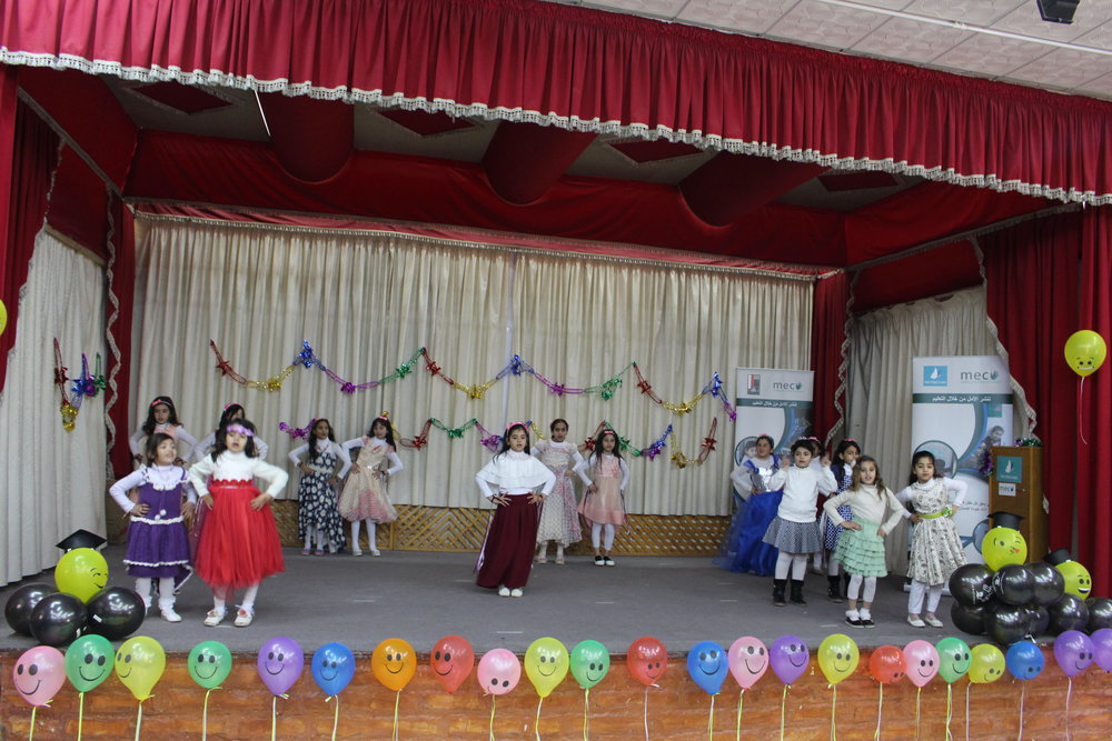MECI-TSF 03.02.2019 Students performing in front of their parents and MECI-TSF staff in the graduation ceremony.JPG