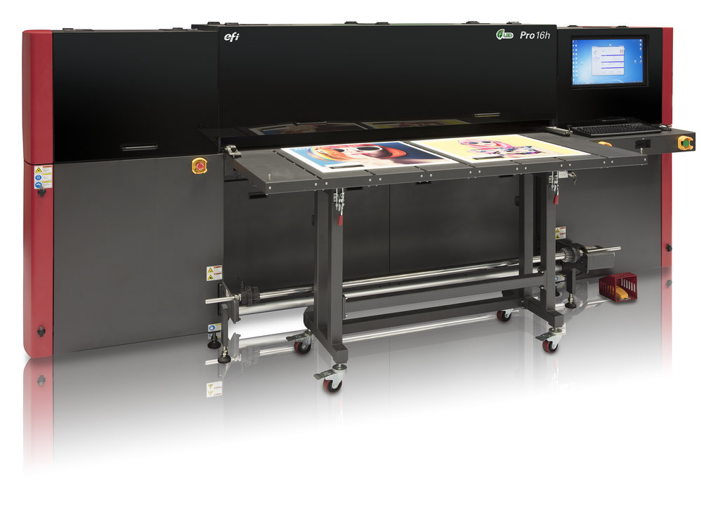 - EFI's newest wide format LED UV hybrid inkjet printer is an upgraded version of the H1625. With more nozzles than the H1625, the Pro 16h is 30% faster and has higher print quality then its predecessor. It is capable of printing photographs at an amazing 1200 dpi and can handle substrates up to 50mm thick. It is one of the most energy efficient printers on the market, adding to our desire to be more green and reduce our footprint.