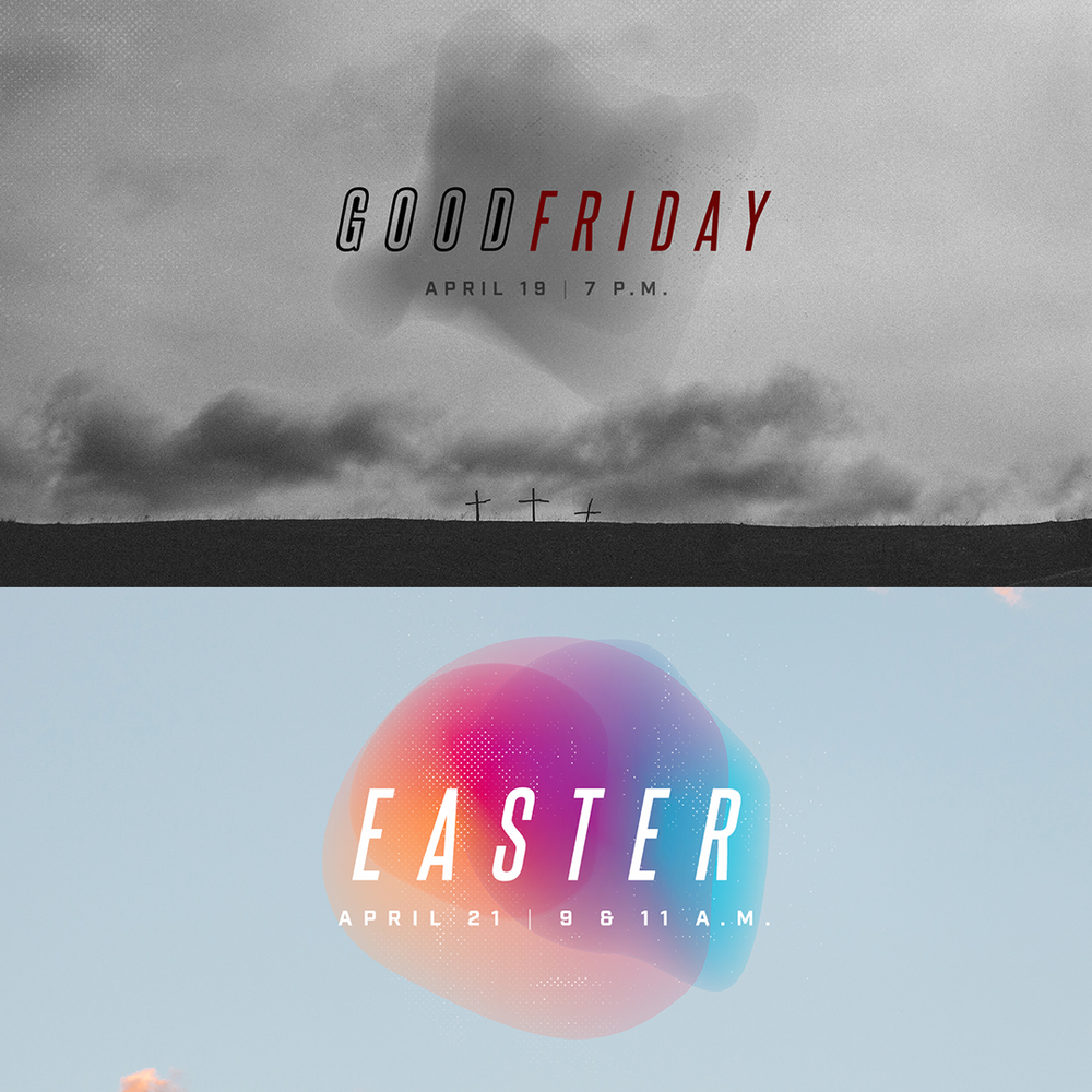 JOIN US THIS EASTER & GOOD FRIDAY. - On Good Friday and Easter Sunday, we will remember, reflect, proclaim, and sing of the Lord Jesus crucified and risen again, according to the Scriptures. In these amazing works of Christ we find the very means by which we sinners have been loved and reconciled to our holy and righteous God as well as the great cause of our Salvation and eternal hope.