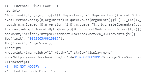 Facebook Pixel Code | Facebook Pixel and Advertising 101: A How-To Guide for Small Businesses | Barton Creative Co.
