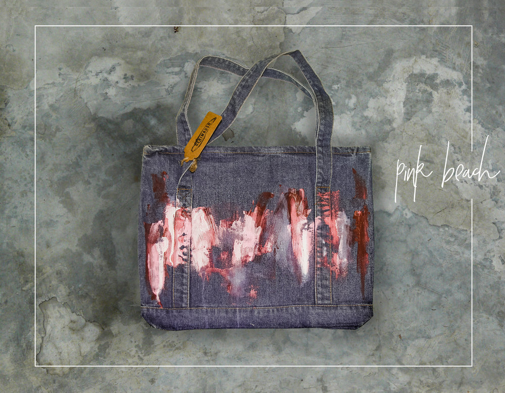 PINK BEACH - DENIMRUSH BAGS