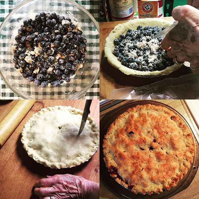 Had such fun trying to learn pie making with my folks yesterday.  My tendency to over touch and my hot hands do not help things. #grateful #blueberries #pie