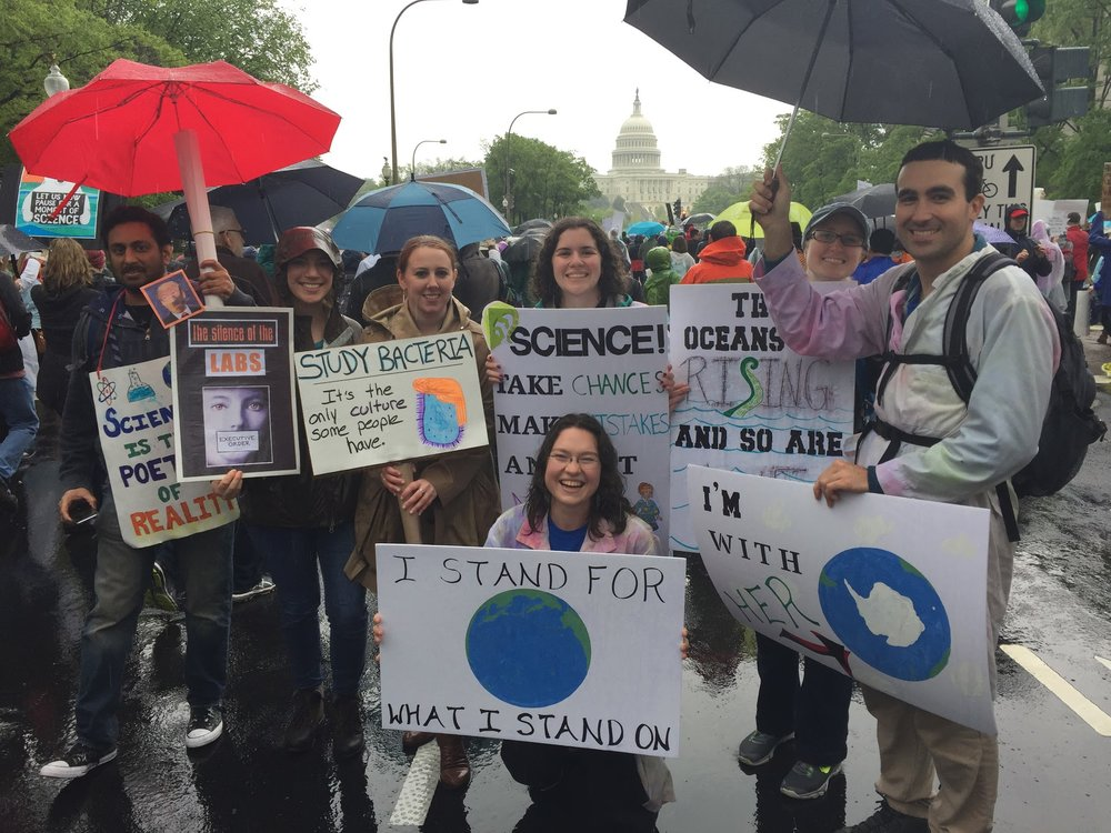 GAU SOS travels to D.C. and beyond to join the March for Science!