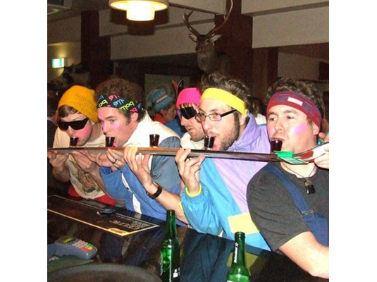 shot ski party