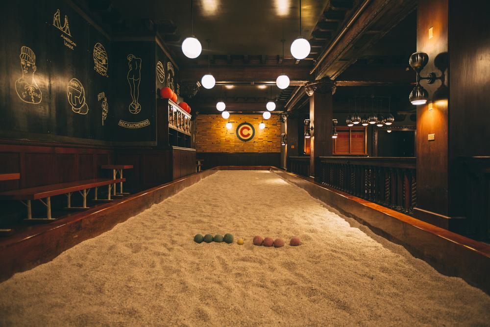 The Gameroom bocce ball court at the Chicago Athletic Association (Photo: The Gameroom)