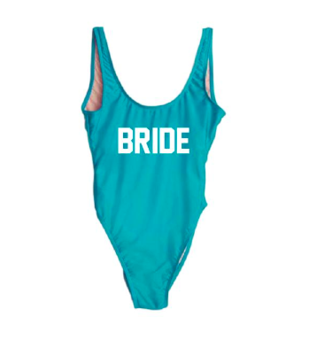Custom bathing suits  are a fun bach party idea