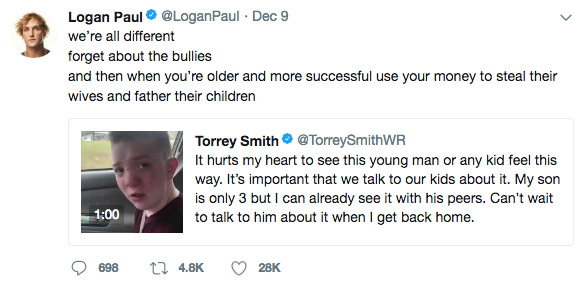 Logan Paul Tweet