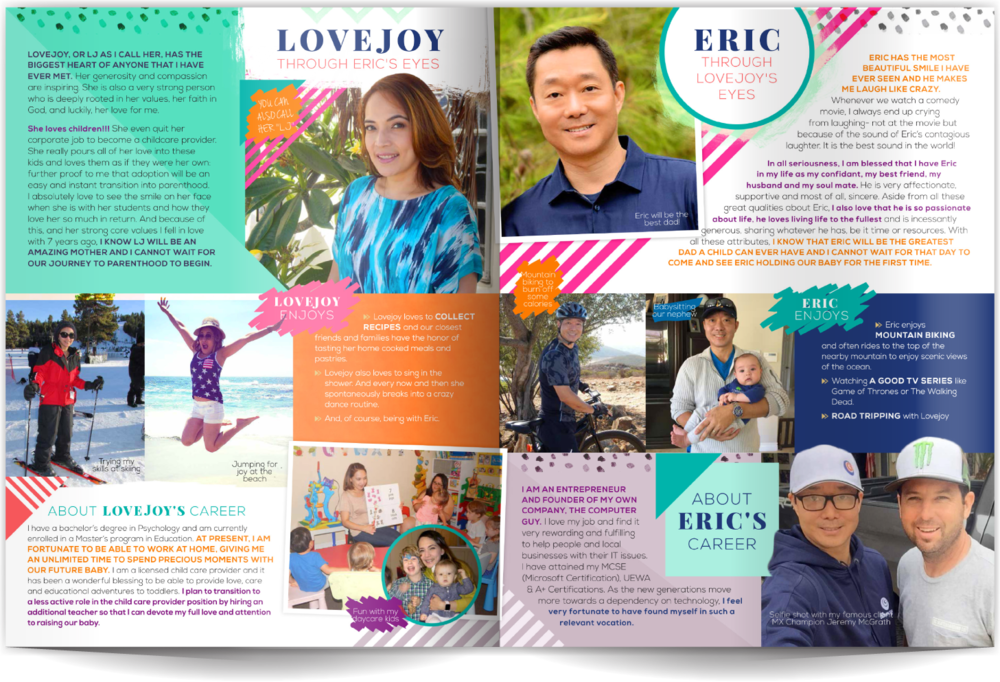 Adoptive Parent Profile Samples Our Chosen Child Design Services Lovejoy & Eric